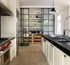 Pantry Cabinet Glass Door Pantry Cabinet With Custom Pantry - Black kitchen pantry cabinet