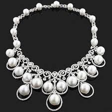 pearl necklace with diamond images 1785 best pearl images beaded jewellery jewerly jpg