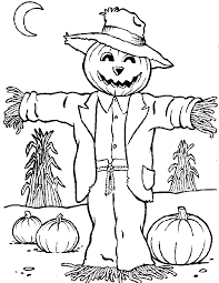 free scarecrow coloring pages coloring