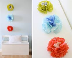 paper napkin flower tutorial wall flowers made out of napkins tutorial celebration time to