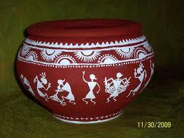 Warli Art Simple Designs Painting On Pots Designs Google Search Folk Painting