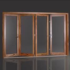 Aluminum Clad Exterior Doors 110 Series Aluminum Clad Wood Bi Fold Door With 95 Opening Space