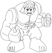 Lego Hulk Coloring Pages Coloring