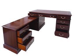 Eckschreibtisch Schreibtisch Eckschreibtisch Büromöbel Englischer Stil Mahagoni