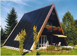 A Frame House by Copper And Solar Panel A Frame Home Pinterest Roof Design