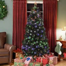 artificial prelit christmas trees sky1954 pre lit fiber optic 7 green artificial christmas tree