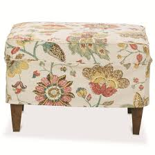 Rowe Ottoman Times Square Contemporary Ottoman With Slipcover By Rowe Bufss