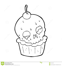 cartoon halloween cup cake stock photo image 37022460