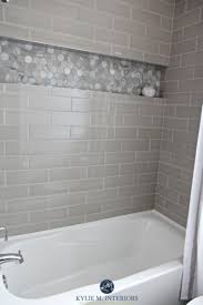 Small Bathroom With Black Hexagon by Cozy Small Bathroom Shower With Tub Tile Design Ideas 40