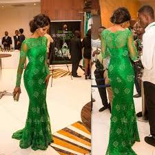 jade green african prom dresses 2016 full lace high neck long