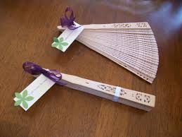 diy wedding fans a gift to beat the heat most definitely will be doing some