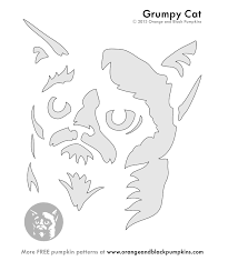 Meme Pumpkin Stencil - carve a grumpy cat pumpkin no grumpy cat stenciling and cat