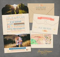 Single Card Wedding Invitations August 2014 Jeneze Designs