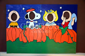 halloween photo booth background charlie brown peanuts gang halloween photo prop lawn art snoopy