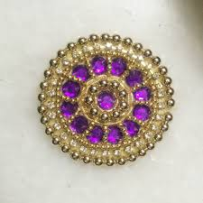 purple gold beaded indian applique moti beads handwork indian