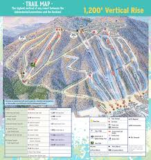Canandaigua New York Map by Trail Map Bristol Mountain Resort