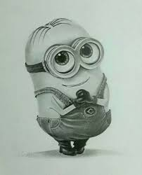 pencil drawings to draw drawing pencil drawings minions images litle pups