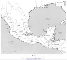 Blank Latin America Map by Famsi Linguistic Maps Of Mesoamerica Mesoamerica Mesoamerica