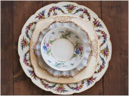 mismatched plates wedding vintage china flatware borrowed a vintage inspired company