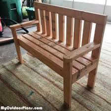 Wood Lawn Bench Plans by Diy 2x4 Wood Garden Bench Myoutdoorplans Free Woodworking