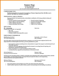 resume objective accounting internship sample application resume resume