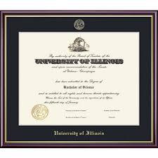 of illinois diploma frame of illinois at springfield 8 5 x 11 value price