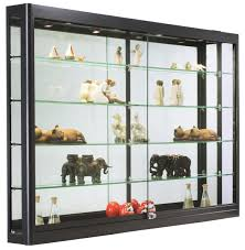 Display Cabinet With Lighting Wall Mount Display Cases Glass U0026 Acrylic Mounted Showcases