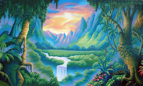 jungle backdrop jungle backdrop stock illustration illustration of serenity