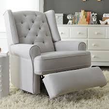 Toddler Rocking Recliner Chair Best Chairs Finley Swivel Glider Recliner Gray Tweed Babies