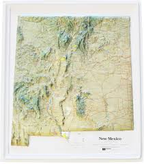 New Mexico Map by Buy New Mexico Relief Map Flagline