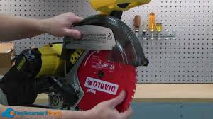 how to replace the guard on a dewalt dw708 miter saw youtube