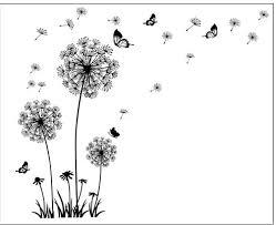 aliexpress com buy butterfly flying in dandelion bedroom