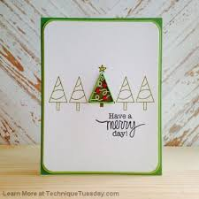 merry day trees technique tuesday