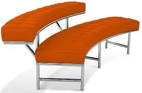banc canapé banc canapé tissu orange monté carlo lestendances fr