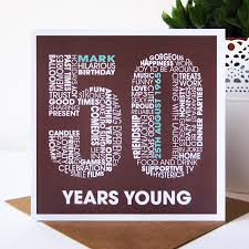 truly wonderful 50th birthday cards for him calligraphy style
