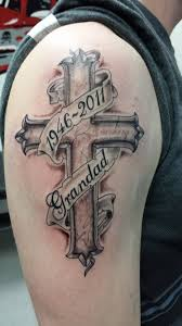 cross tattoos for and their meanings shading arms and