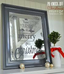themed mirror temporary christmas themed mirror the weathered fox