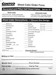 birthday cake order costco us bakery sheet cake order form addicted to costco