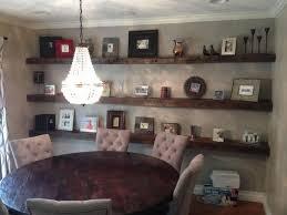 Top  Best Oak Floating Shelves Ideas On Pinterest Inset Log - Floating shelves in dining room