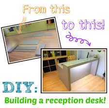 diy building a reception desk