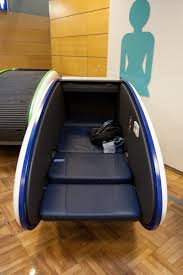 the sleeping pod experience at helsinki airport electric blue food