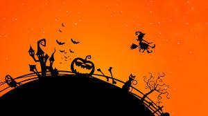 halloween background 1280 x 720 wallpaper halloween pumpkin castle bats halloween witch hd 4k