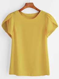 sleeve chiffon blouse petal sleeve chiffon blousefor romwe