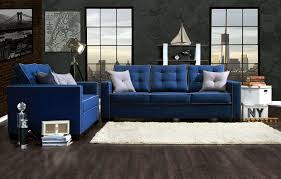 Blue Sofa Living Room Design by Wooden Sofa Designs For Asian Themed Living Room Decor With Pillow