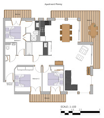 floor plans apartment pleney more mountain morzine