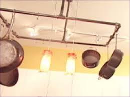 kitchen room fabulous copper pan rack ceiling mounted pot rack