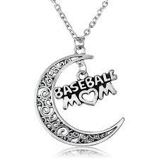 s day jewelry baseball heart moon pendant necklace rotre family charm