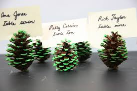 thanksgiving name card holders 4 ways to make a neon pine cone place card holder wikihow