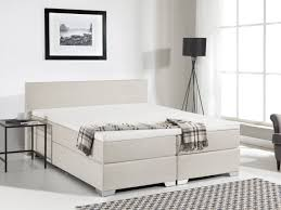 spring bed fabric king box spring bed beige president beliani com