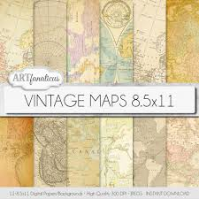 Old Map Background Ancient Maps Digital Paper